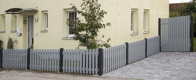 WieTec Gartenzaun Kunststoff